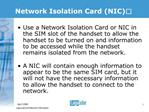 Network Isolation Card NIC