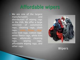 Affordable wipers