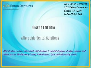 Affordable Dentures Philadelphia
