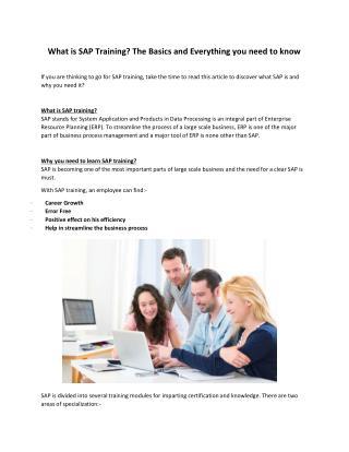 SAP Training in Houston