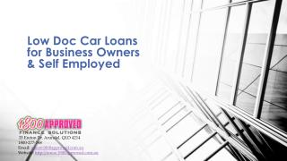 Low Doc Car Loans for Business Owners in Australia