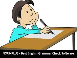 NOUNPLUS - Best English Grammar Check Software