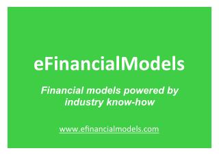 Financial Model Templates powered by industry know-how