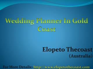 Marriage Celebrant Gold Coast - Elope To The Coast