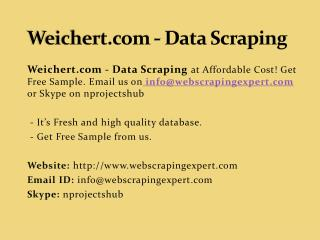 Weichert.com - Data Scraping