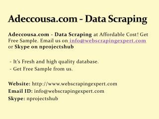 Adeccousa.com - Data Scraping