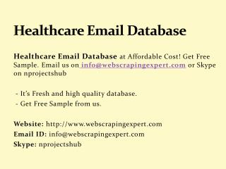 Healthcare Email Database