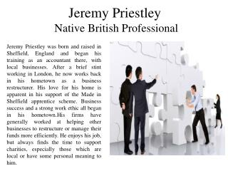 Jeremy Priestley - Native British Professional