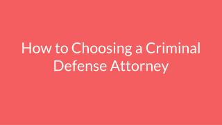 Santa Ana criminal defense lawyer
