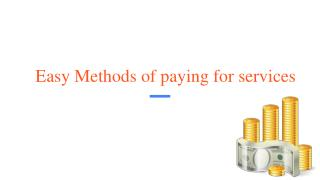 Easy Methods of paying for services
