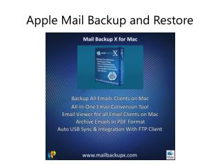 Apple Mail Backup and Restore Application