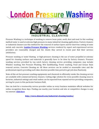 London Pressure Washing