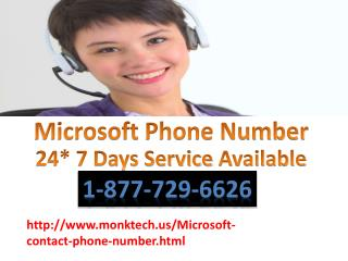 Microsoft Contact Number 1-877-729-6626 Dial & get instant support