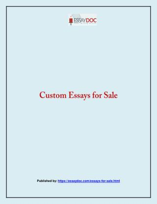 Essay Doc-Custom Essays for Sale