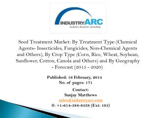 Seed Treatment Market- increasing prominence of soybean seed treatment- IndustryARC.