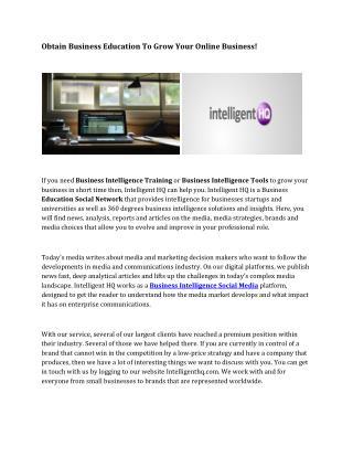 Business Intelligence Social Media