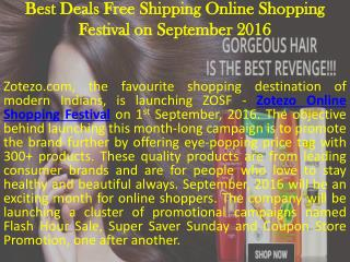 Best Deals Free Shipping Online Shopping Festival on September 2016