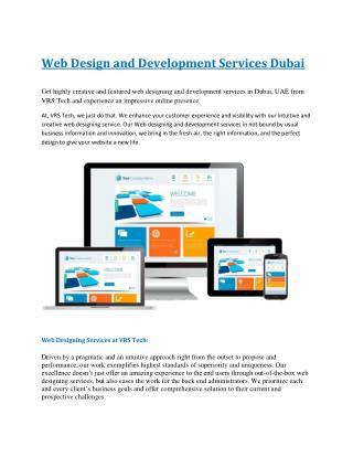 Web Design and Development Services Dubai