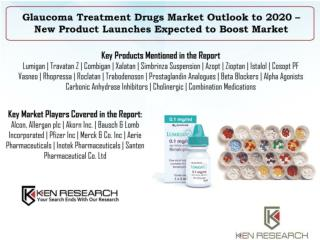 Global Glaucoma Treatment Drugs Market Forecast to 2020  : Ken Research