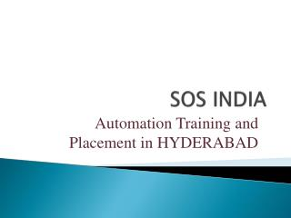 Sos India Automation Training and Placements
