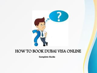 HOW TO BOOK DUBAI VISA ONLINE Complete Guide