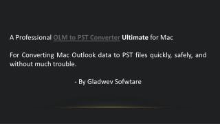 OLM to PST Converter Ultimate Free