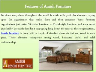 Features of Amish Furniture