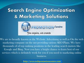 Search Engine Optimization & Marketing Solutions