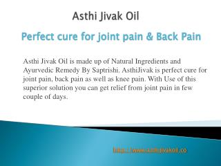 Asthi Jivak Oil
