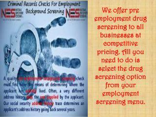 Employment Drug Screening Results