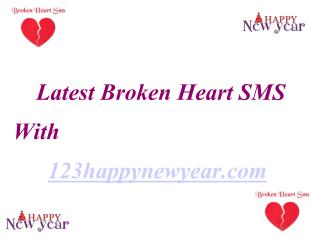 Latest Heart Broken SMS