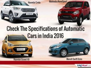Get the List of Automatic Cars in India 2016
