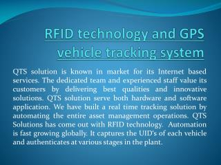 RFID Technology and GPS Vehicle Tracking System