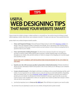 5 STEP RECIPE FOR WEBSITE DESIGNING TIPS TO BRING YOU MORE CUSTOMERS.