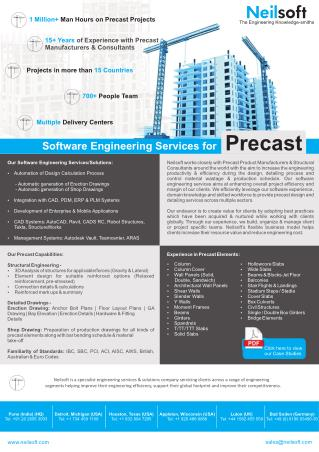 Software Services for Precast
