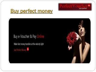 Buy perfect money voucher