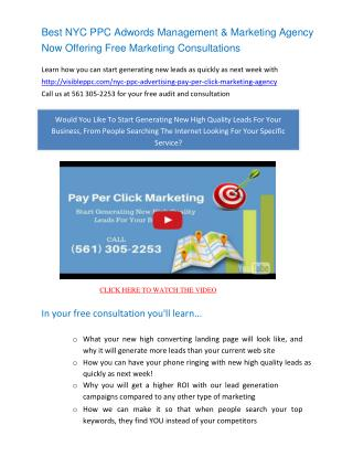 NYC Pay Per Click Management