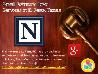 Small Business Law Services in El Paso, Texas