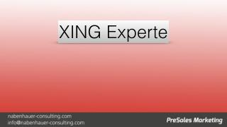 XING erfolgreich nutzen