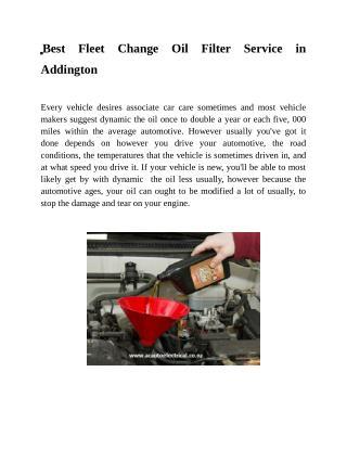 Best Fleet Change Oil Filter Service in Addington