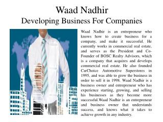 Waad Nadhir - Developing Business for Companies