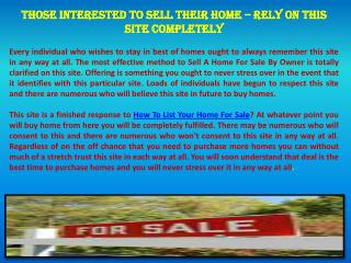 Search Homes For Sale By Owner