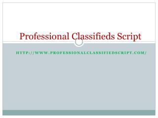 Professional Classifieds Script