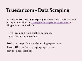 Truecar.com - Data Scraping