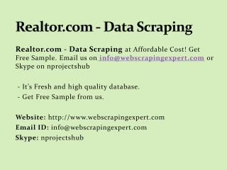 Realtor.com - Data Scraping
