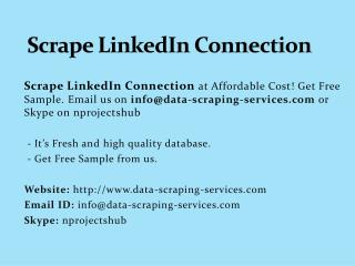 Scrape LinkedIn Connection
