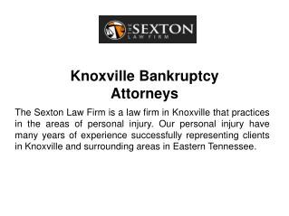 Knoxville Bankruptcy Attorneys