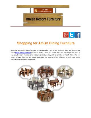 Shopping for Amish Dining Furniture