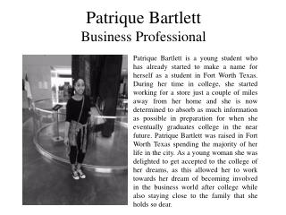 Patrique Bartlett - Business professional