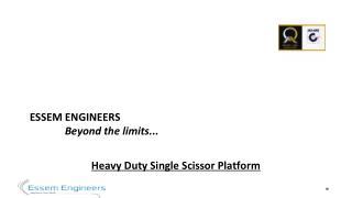 Hydraulic Goods Lift Manufacturer - Essem Engieers
